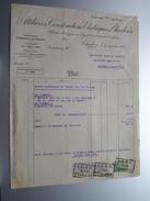 Ateliers De Constructions Electriques De Charleroi () ( Facture / Tax ) 1926 > Frasnes ! - Électricité & Gaz