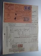 Fernand JOURET Jette Bruxelles ( Fabrique De Graisses BELGOLINE ) ( Facture + Carte Récépissé / Tax ) 1925 > Frasnes ! - Belgium