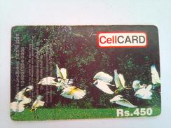 Sri Lanka Phonecard Cellcard Rs450 Flowers - Sri Lanka (Ceylon)
