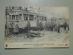SEINE SAINT DENIS EXPLOSION DE SAINT DENIS 4 MARS 1916 UN CHEVAL TUE - Saint Denis