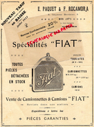 75- PARIS-FACTURE E. PAQUET & F. ROCAMORA-5 IMPASSE BERTHIER- TARIF 1922- FIAT- RADIATEUR- CAMION CAMIONNETTE- RUSCART - Cars