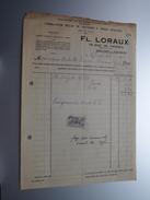 FL. LORAUX Bruxelles ( Fabrication Bemlge De ..... ) ( Facture / Tax ) 1924 > Gravier Frasnes ! - Belgium