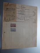 CH. HENQUIN Mariembourg ( ) ( Facture / Tax ) 1924 > Gravier Frasnes ! - Belgium
