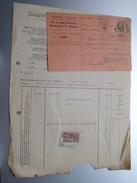René VOLET Bruxelles ( Mat. Electrique ) ( Facture + Carte Récépissé / Tax ) 1925 > Gravier Frasnes ! - Belgium