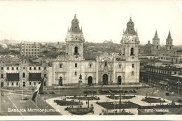 PERU'  --  BASILICA METROPOLITANA   CARTOLINA STATO COME SCANSIONE  PICCOLI DIFETTI - Perù