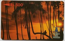 Sri Lanka Phonecard Lanka Pay Phones Rs 500 Sunset 2SRLD - Sri Lanka (Ceylon)