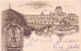 ALTE Litho- AK  HOSTEIN - HOSTYN / Mähren - Wallfahrtsort -  1900 Gelaufen - Böhmen Und Mähren