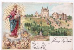ALTE Litho- AK  HOSTEIN - HOSTYN / Mähren - Wallfahrtsort -  1902 Gelaufen - Böhmen Und Mähren