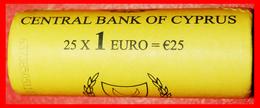 § FINLAND 2007: CYPRUS ★ 1 EURO 2008 UNC ROLL UNCOMMON! LOW START★ NO RESERVE! - Rollos