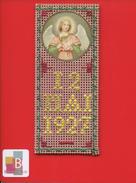IMAGE PIEUSE RELIGIEUSE CANIVET TAPISSERIE DATÉ 12 MAI 1927 ANGE BAPTEME ? COMMUNION ? - Devotieprenten