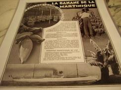 ANCIENNE PUBLICITE LA BANANE DE LA MARTINIQUE 1935 - Posters