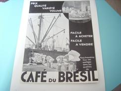 ANCIENNE PUBLICITE LE CAFE DU BRESIL  1935 CHARGEMENT - Posters