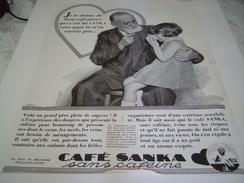 ANCIENNE PUBLICITE LE CAFE SANKA SANS CAFEINE  1931 - Posters