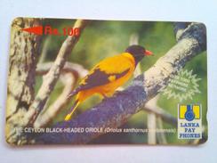 Sri Lanka Phonecard Lanka Pay Phones Rs 100 Oriole 21SLLC - Sri Lanka (Ceylon)