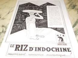 ANCIENNE PUBLICITE LE RIZ D INDOCHINE  1932 - Posters