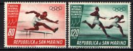 SAN MARINO - 1955 - 1^ MOSTRA INTERNAZIONALE DEL FRANCOBOLLO OLIMPICO - NUOVI MNH+MH - Corréo Aéreo