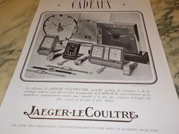 ANCIENNE PUBLICITE COLLECTION JAEGER-LECOULTRE 1938 - Bijoux & Horlogerie