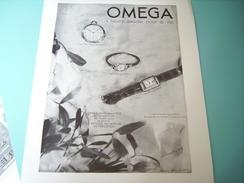 ANCIENNE PUBLICITE MONTRE OMEGA 1937 - Autres