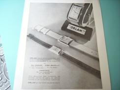 ANCIENNE PUBLICITE MONTRE ORLAM 1932 - Bijoux & Horlogerie