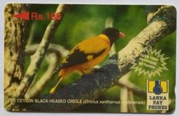 Sri Lanka Phonecard Rs 100 Oriole 32SRLD - Sri Lanka (Ceylon)
