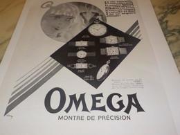ANCIENNE PUBLICITE MONTRE OMEGA MONTRE DE PRECISION 1931 - Autres