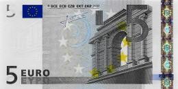Billet 5 Euros 2002 Signature Jean-Claude TRICHET - TRÈS RARE DANS CET ÉTAT - 5 Euro