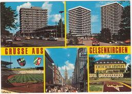 Gelsenkirchen - PARKSTADION, 'Maritim' Hotel, Auto's, 'C&A'  Usw. - (Deutschland) - Stadions