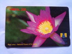Sri Lanka Phonecard RS 200 Blue Lotus 9SRLA - Sri Lanka (Ceylon)