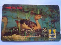 Sri Lanka Phonecard Rs 500 Teal 22SRLA - Sri Lanka (Ceylon)