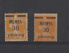 Nr 21 * Met Spatie Tussen De Cijfers - Memel (1920-1924)