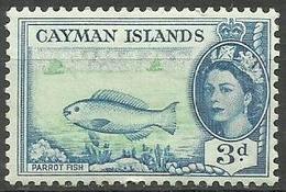 Cayman Islands - 1953 Parrot Fish 3d MH *  Sc 141 - Cayman Islands