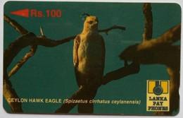 Sri Lanka Phonecard Rs 100 23SRLB Eagle - Sri Lanka (Ceylon)