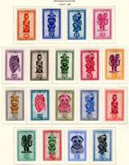 1947   Les Masques, 277 / 295*, Cote 55 €, - 1947-60: Neufs
