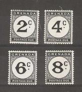 Grenada - 1952 Postage Dues Set MH * SG D15-8 Sc J15-8 - Grenada (...-1974)