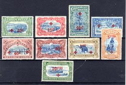 1918  Croix-Rouge, 72 / 80 *, Cote 235 Euros - Congo Belge