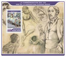 TOGO 2017 ** Edgar Degas Painter Maler Peintre S/S - OFFICIAL ISSUE - DH1722 - Sonstige