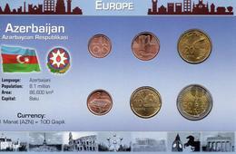 AZERBAIJAN, 6 MONEDAS, BU, 2 ESCANER - Azerbaïdjan