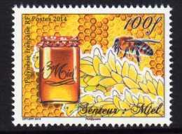 Polynésie 2014 - Abeilles, Miel, Timbre Senteur Miel - 1 Val Neuf // Mnh - Polynésie Française