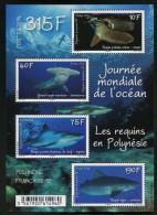 Polynésie Française 2014 - Faune Marine, Les Requins En Polynésie - BF Neufs // Mnh - Polynésie Française