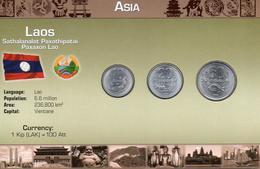 LAOS 2005, 5 MONEDAS, BU, 2 ESCANER - Laos