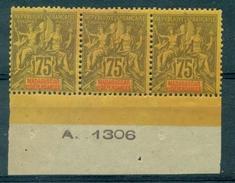 MADAGASCAR N° 39 Bande De 3 BdeF Avec N° N Xx Tb Cote 60 € Maury - Madagascar (1889-1960)