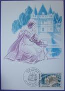 Carte Postale Maximum - FDC - Chateau Azay Le Rideau - 1987 - YT 2464 - Cartes-Maximum