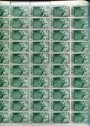 Belgie 1949 822 Austria Maria-theresia Gravure Jean De Bast RRR In Full Sheet Of 50 Plaatnummer 2 OCB++1175€ + Lupp - Feuilles Complètes