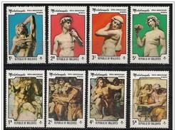 Maldive/Maldives: Opere Di Michelangelo, œuvres De Michel-Ange, Works By Michelangelo - Arte