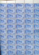 Belgie 1948 790 Austria Isabella Gravure Jean De Bast RRR In Full Sheet Of 50 Plaatnummer 2 OCB++412.50€ + Lupp - Feuilles Complètes