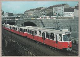 Wiener Stadtwerke-Verkehrsbetriebe - Triebwagen E6 Und Beiwagen C6 Ausfahrt Aus Mietling-Hauptstrasse August 1985 - Trains