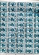 Belgie 1948 791 Austria Albrecht Albert Gravure Jean De Bast RRR In Full Sheet Of 50 Plaatnummer 1 OCB++2175€ + Lup - Feuilles Complètes