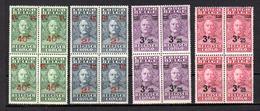 1931 Stanley, 162 - 164 -166 - 168 **, Cote 194 Euros En Blocs De 4 ** - Belgisch-Kongo