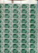 Belgie 1949 822 Austria Maria-theresia Gravure Jean De Bast RRR In Full Sheet Of 50 Plaatnummer 1 OCB++1175€ + Lupp - Feuilles Complètes