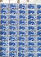 Belgie 1949 820 Gravure Jean De Bast RRR In Full Sheet Of 50 Plaatnummer 1 OCB++575€ + Lupp - Feuilles Complètes